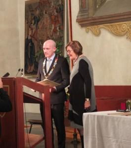 Margot Neuer mit Oberbürgermeister Wolbergs