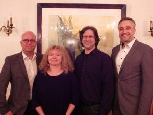 Die neue Fraktiosnführung - v.l. Thomas Thurow, Evelyn Kolbe-Stocklert, Dr. Klaus Rappert, Dr. Thomas Burger
